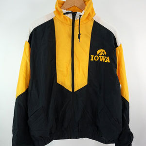 VTG Iowa Hawkeyes Windbreaker Jacket Men's Large